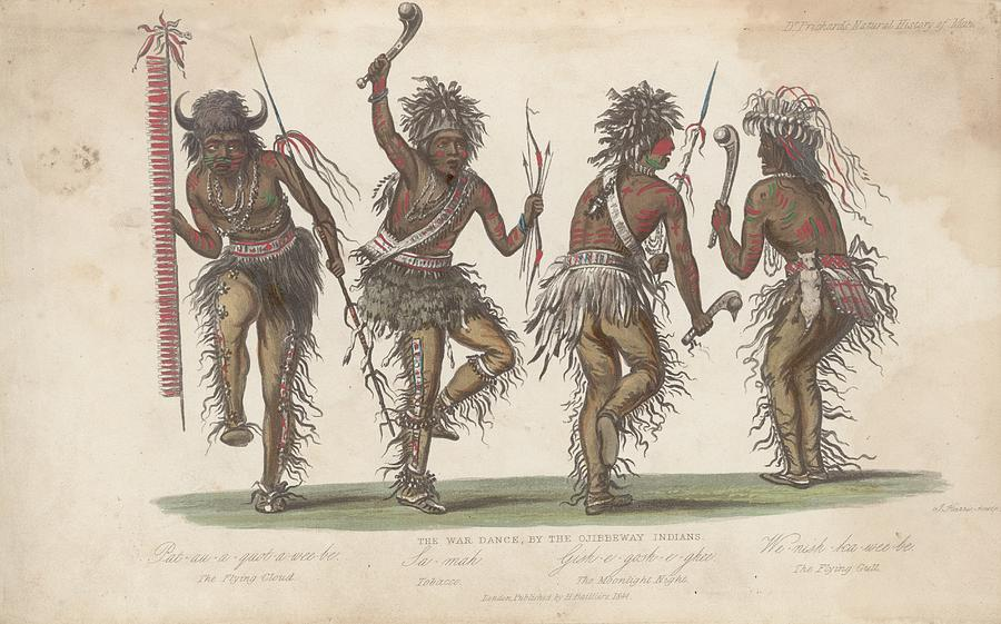 Ojibwa War Dance Digital Art by Rischgitz