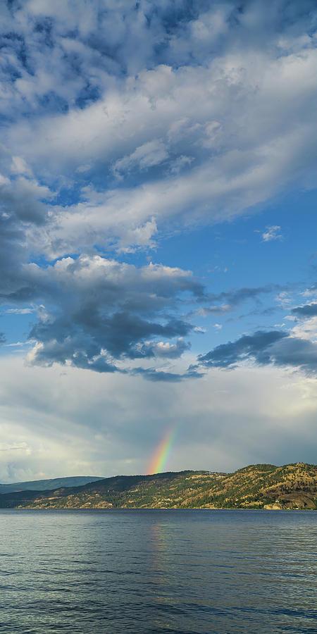 Okanagan Sunset Rainbow by Dave Matchett