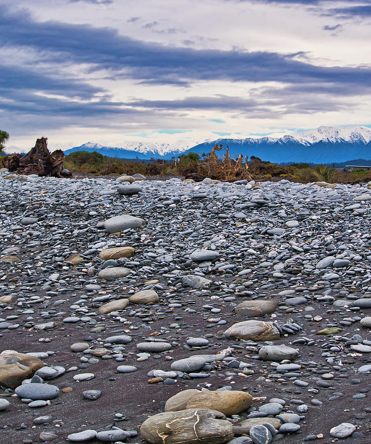 Okarito Beach and NZ Alps by Steven Ralser