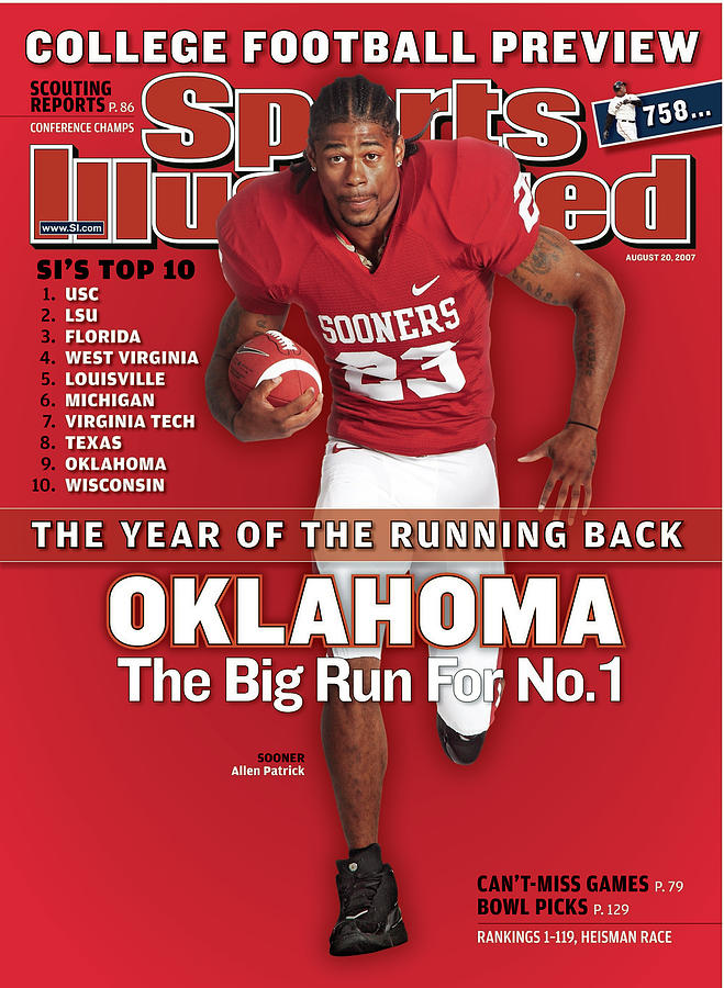 Oklahoma Allen Patrick, 2007 College Football Preview Sports Illustrated Cover Photograph by Sports Illustrated