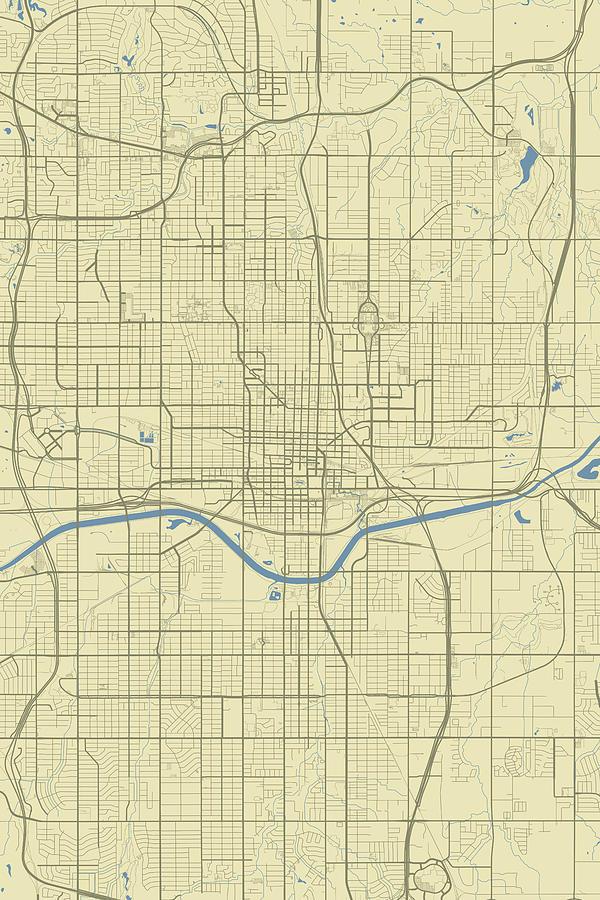 City Map Of Oklahoma. Map Of University Of Central Oklahoma ...