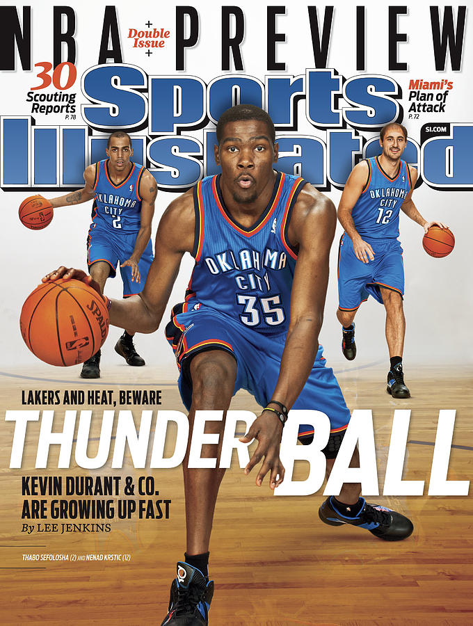 Oklahoma City Thunder, 2010 Nba Basketball Preview Issue Sports Illustrated Cover Photograph by Sports Illustrated