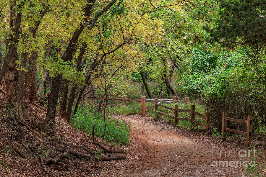 Oklahoma City's Martin Nature Park in Fall Color by Richard Smith