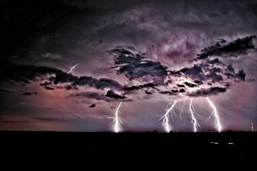 Lightning Photograph - Oklahoma Light Show by John Bates