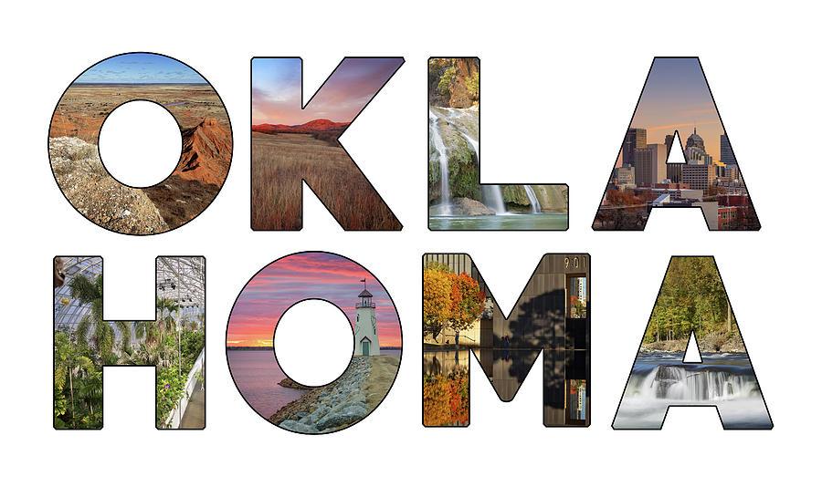 Oklahoma Photograph - Oklahoma Typography II by Ricky Barnard