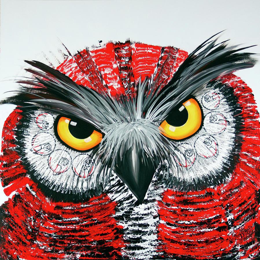 OL Red White Black by Laurel Bahe