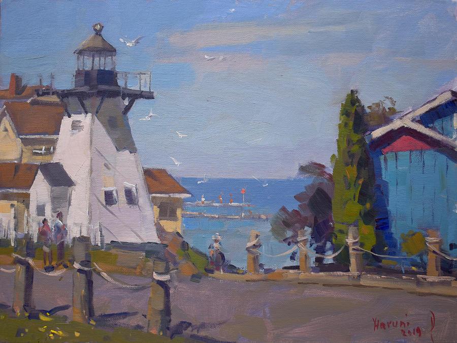 Olcott Beach Lighthouse by Ylli Haruni