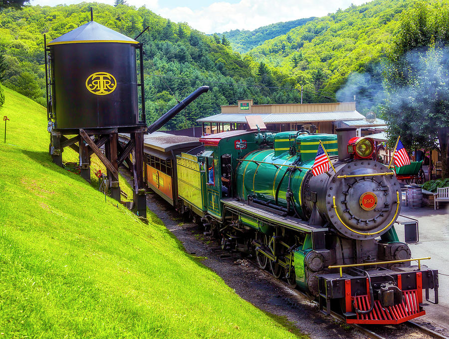 Old 190 Baldwin Locomotive And Water Tank by Garry Gay