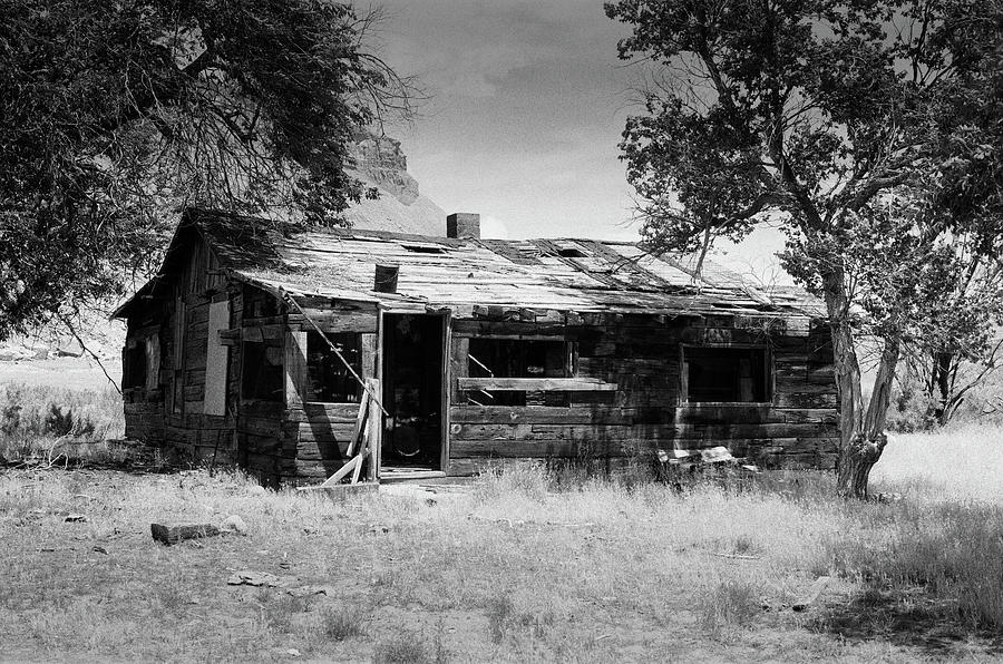 Nostalgia Photograph - Old Abandoned House In A Ghost Town In Utah - Shot On Film by Kyle Lee