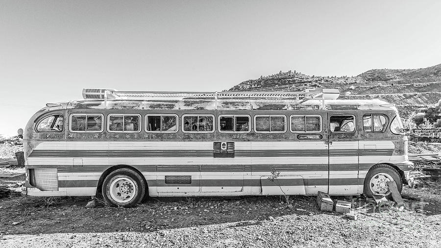 Bus Photograph - Old Abandoned Vintage Bus Jerome Arizona by Edward Fielding