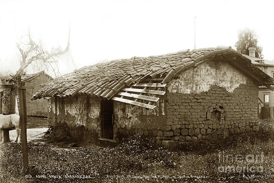 Old Adobe Santa Barbara, Cal. Built over 100 years ago for a reg by California Views Archives Mr Pat Hathaway Archives