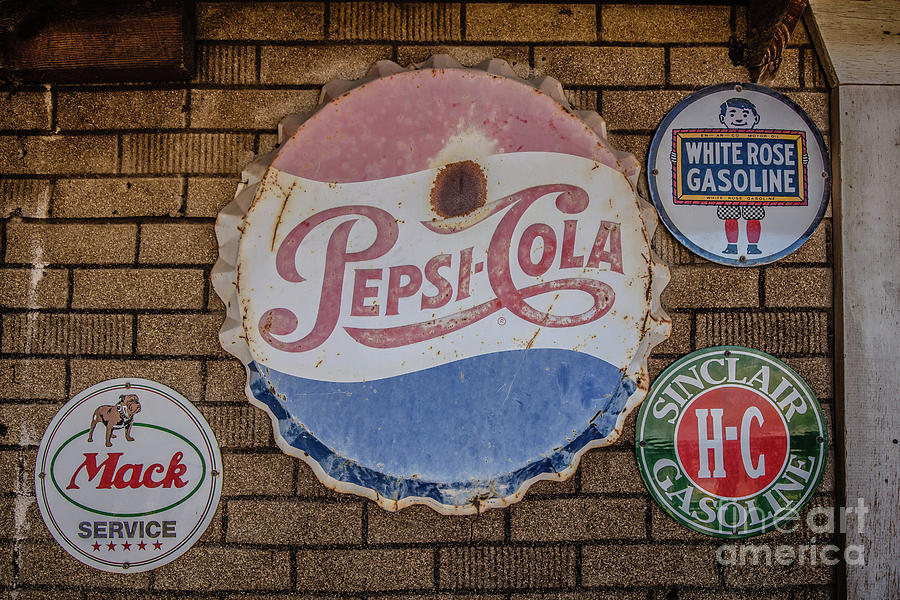 Ghost Town Photograph - Old Advertising Signs by Edward Fielding