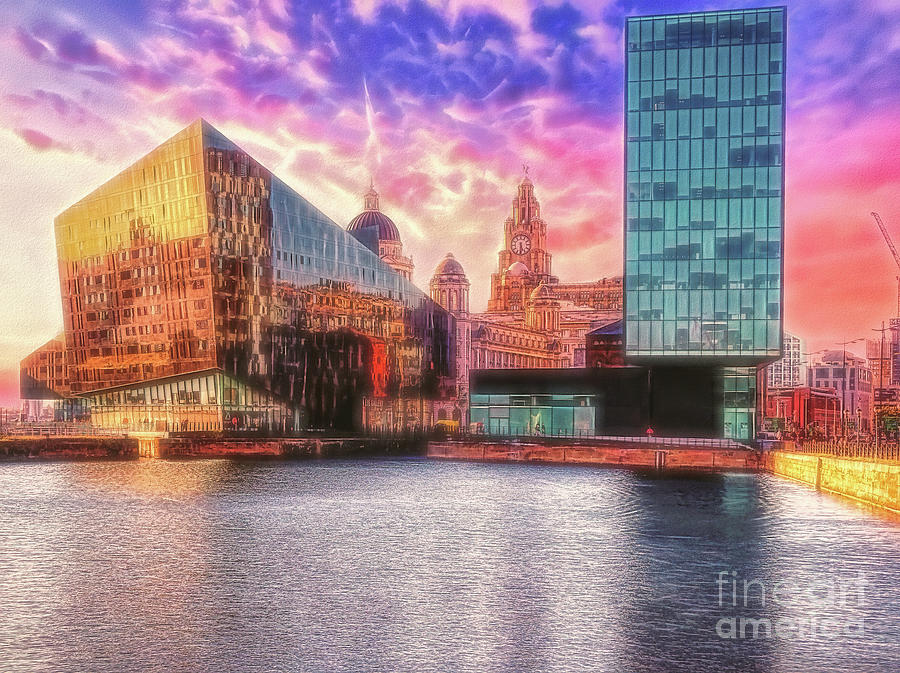 Albert Dock Photograph - Old And New - Albert Dock, Liverpool by Leigh Kemp