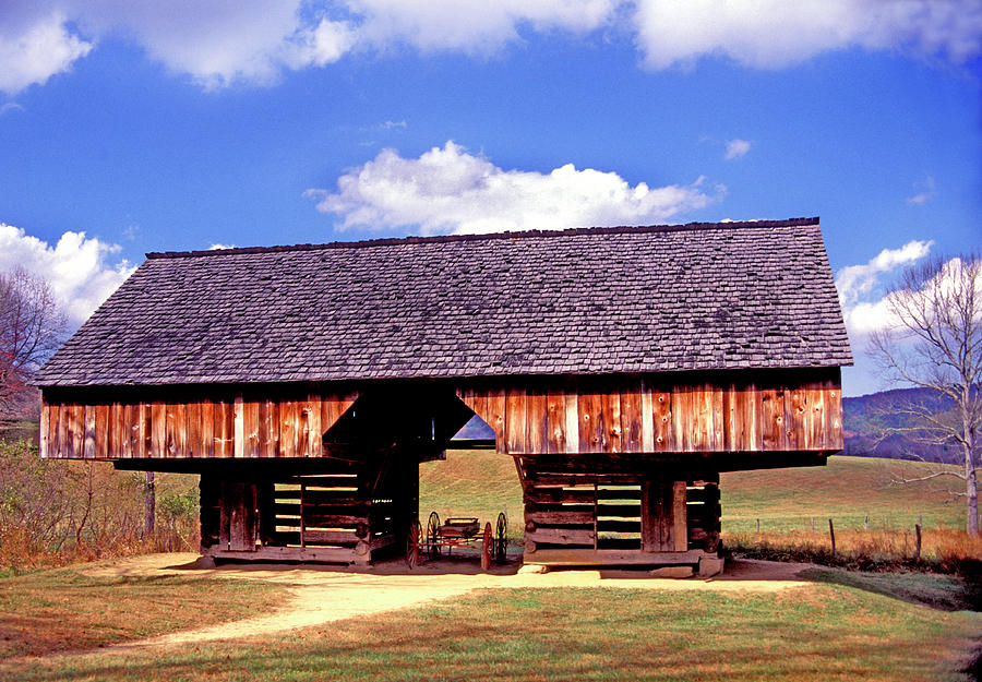 Old Appalachian Cantilevered Barn by Paul W Faust - Impressions of Light
