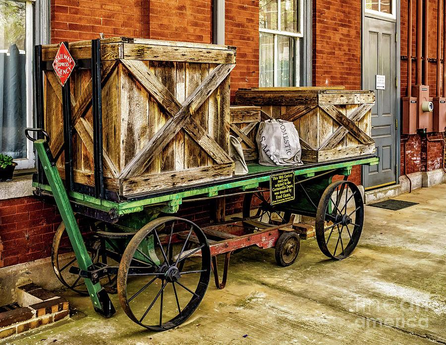 Old Baggage Cart by Nick Zelinsky