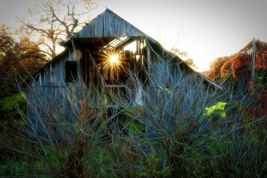 Old Barn at Sunset by Patricia Cale