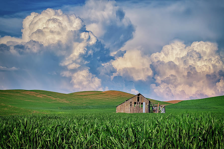 Old Barn Under Gathering Clouds by Rick Berk
