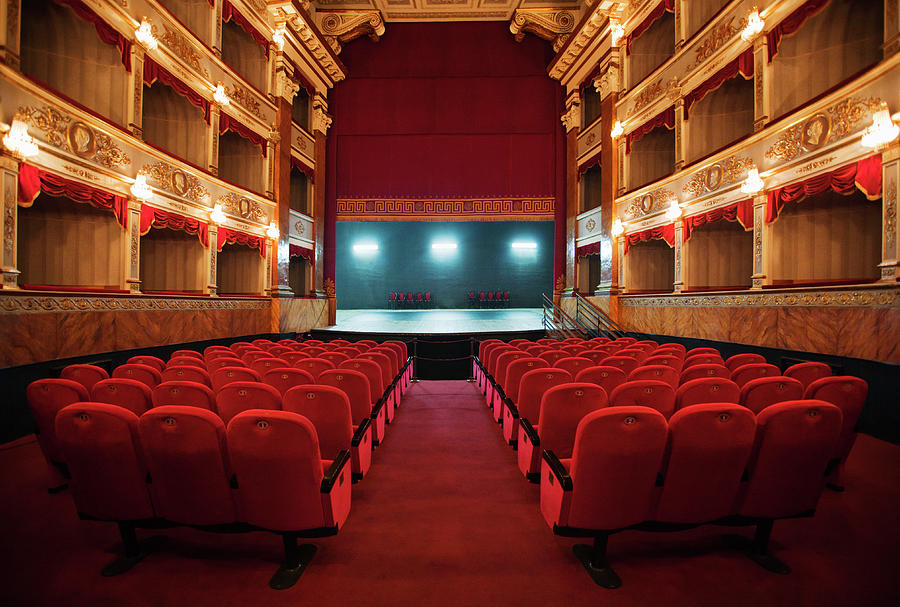 Old Beautiful Theatre Photograph by Nikada