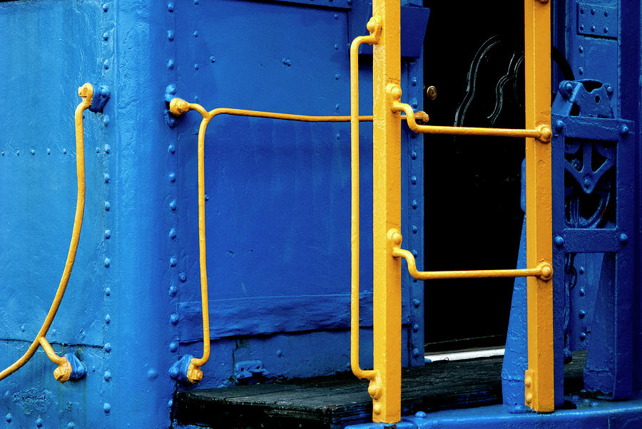 Old Blue Caboose by Paul W Faust - Impressions of Light