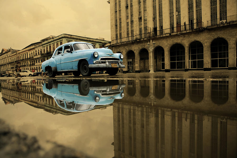 Old Blue Car In Havana Photograph by 1001nights