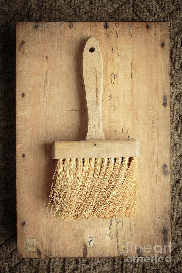 Antique Photograph - Old Bristle Brush by Edward Fielding