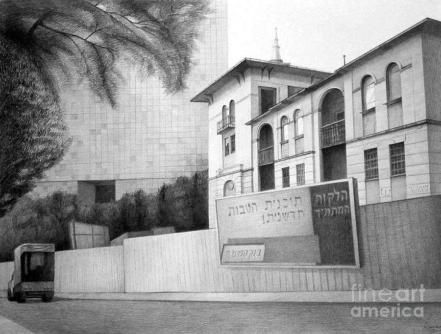 Pencil On Paper Painting - Old buiding by Igal Kogan