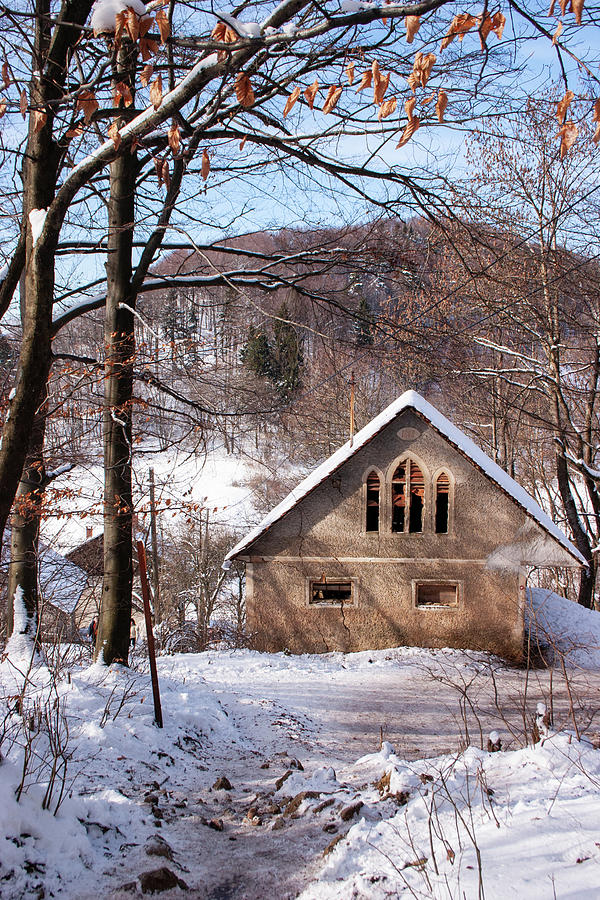 Old building on Smarna Gora in Winter by Ian Middleton