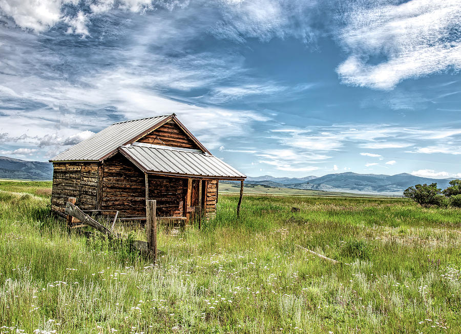 Old Cabin in the Mountains by Lowell Monke