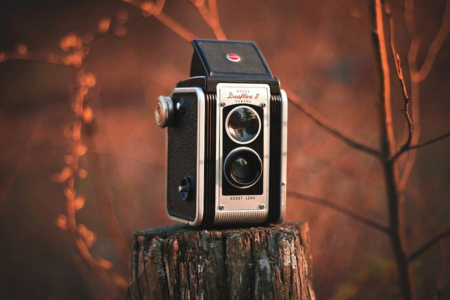 Old Camera On Background Photograph By Waqas Shafi