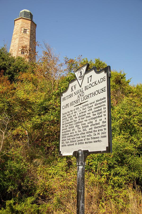 Old Cape Henry Lighthouse and Historical Marker by Karen Foley