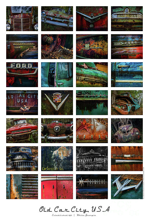 OLD CAR CITY USA COLLAGE by Doug Sturgess