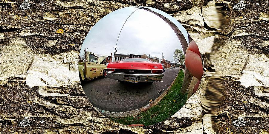 Old car fish eye 2 by Karl Rose
