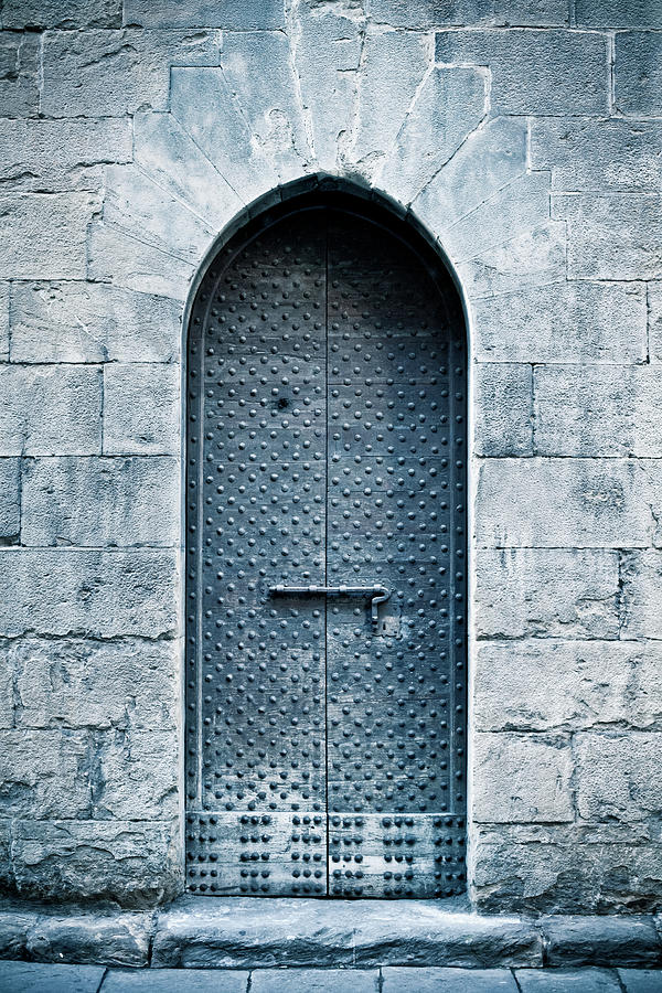 Old Castle Door In Florence Photograph by Zodebala