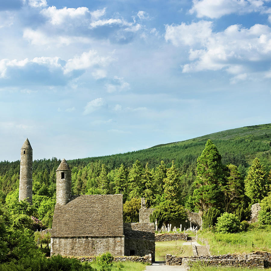 Scenic Photograph - Old Celtic Ruins by Mammuth