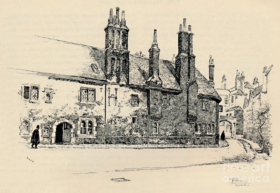 Old Charterhouse Exterior Facade Drawing by Print Collector
