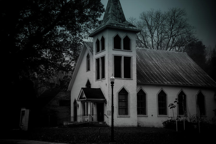 Old Church - BW - Dark by James L Bartlett