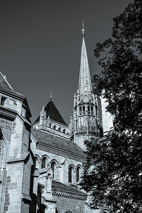 Old Church in Geneva Switzerland by Karen and Phil Rispin