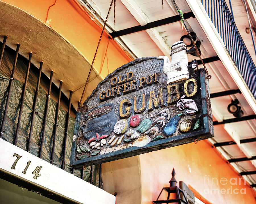 Old Coffee Pot Gumbo in New Orleans by John Rizzuto