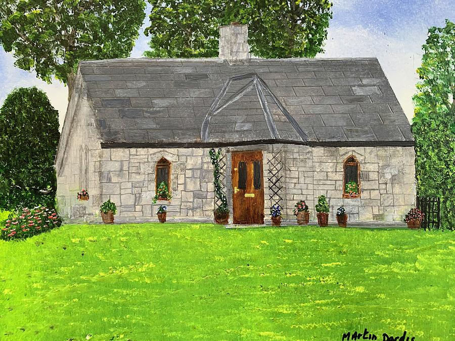 Stone Building Painting - Old Columbas Church Rectory by Martin Dardis