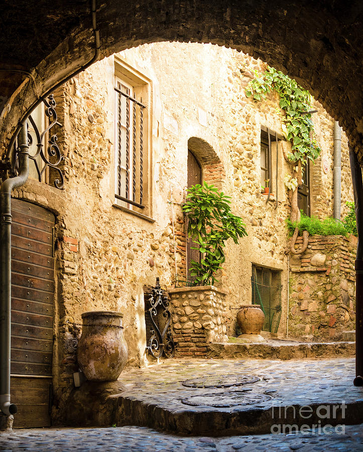 Old Courtyard Photograph by Spooh