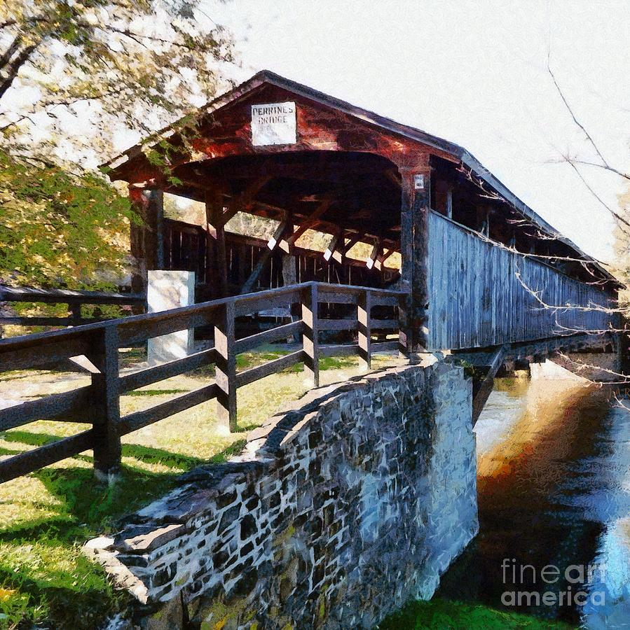 Bridge Photograph - Old Covered Bridge - Ulster County by Janine Riley