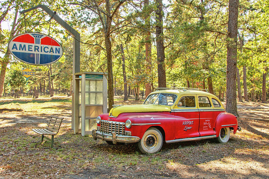 Old Dodge Taxi Cab  by Kristia Adams