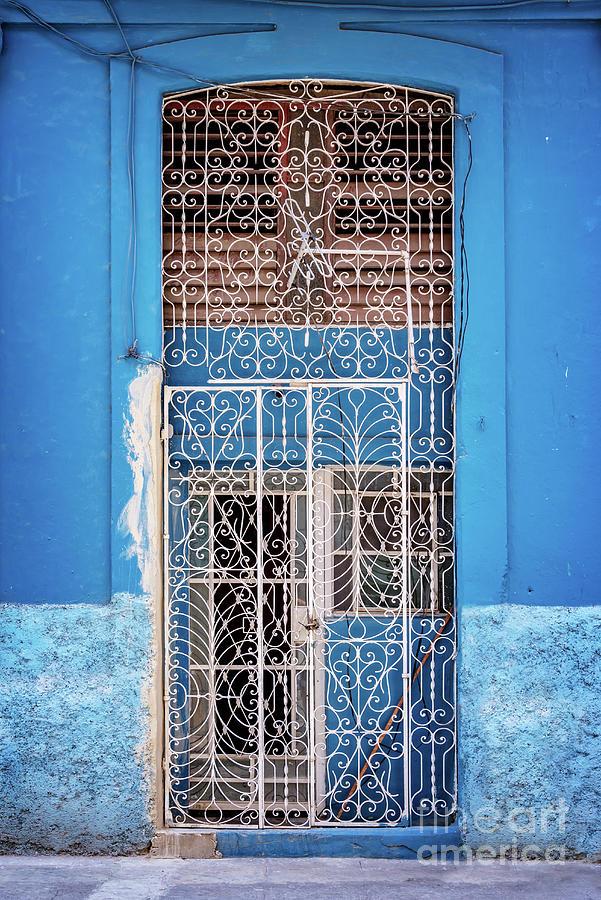 Door Photograph - Old Door In Havana by Delphimages Photo Creations