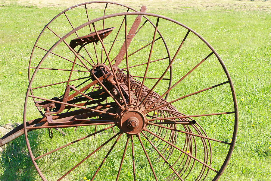 Old Farm Hay Rake by Rich Collins