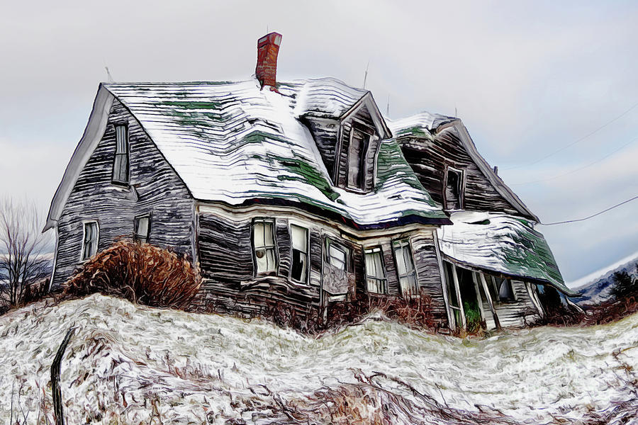Old Farm House Twisted by Sue Harper