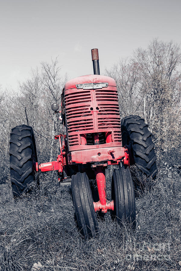 Farmall Photograph - Old Farmall Farm Tractor Color Separation Nh by Edward Fielding