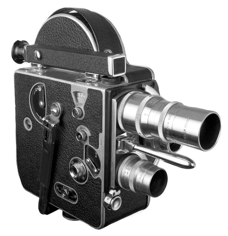Old Fashioned 16 Mm Movie Camera Photograph by Dial-a-view