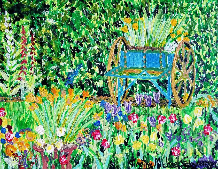 Old Backyard Garden Scene by Timothy Foley