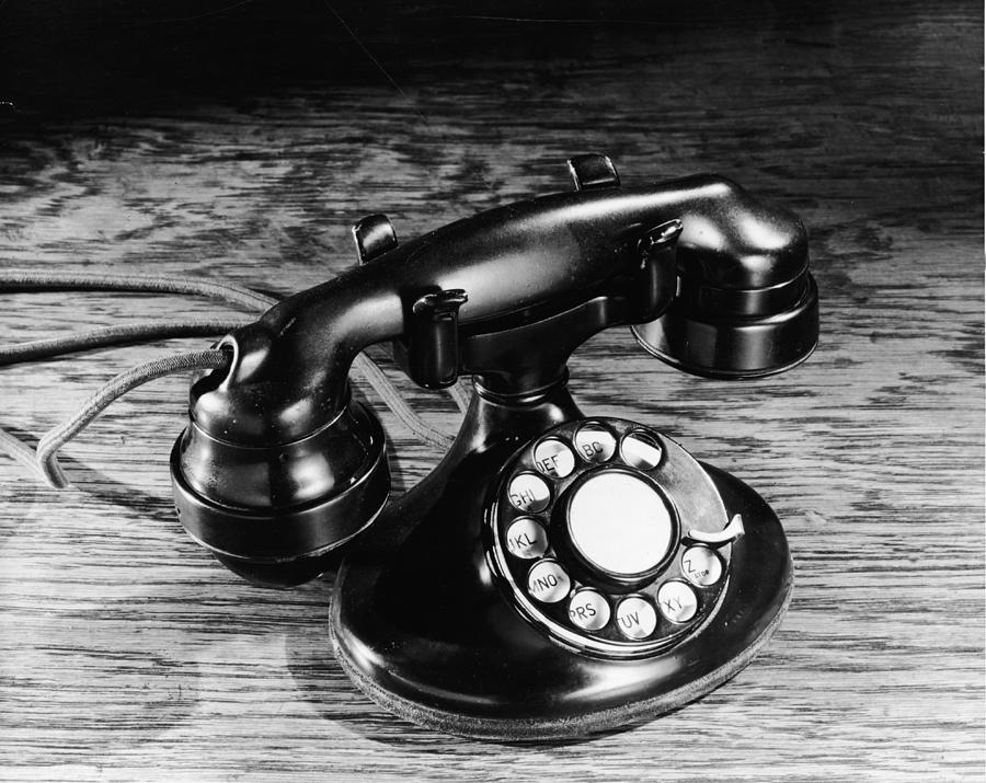 Old-fashioned Black Rotary Telephone Photograph by Frederic Lewis