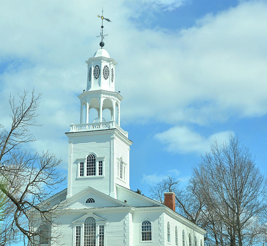 Vermont Photograph - Old First Church by JAMART Photography